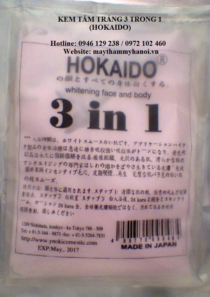 Kem tắm trắng HOKAIDO 3IN1