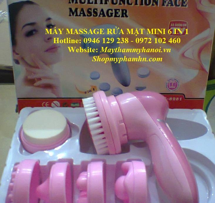 Máy massage rửa mặt mini 6 in 1