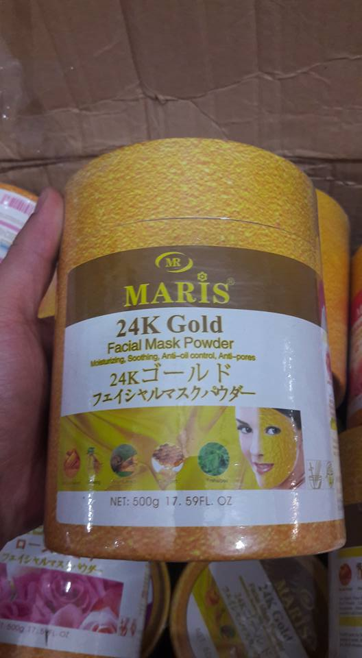 Bột đắp mặt nạ MARIS 24K Gold