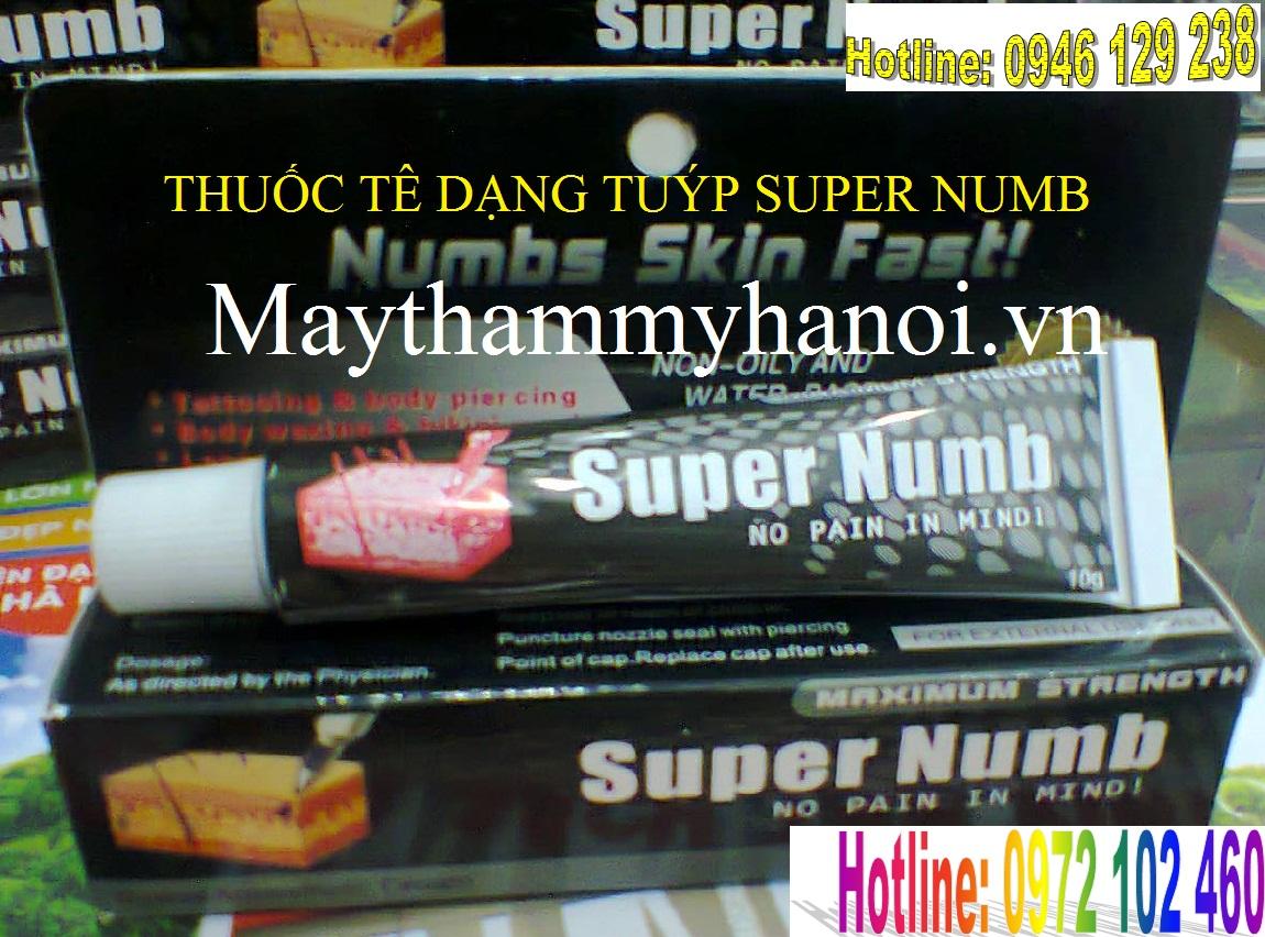 Thuốc tê bôi dạng kem Super number