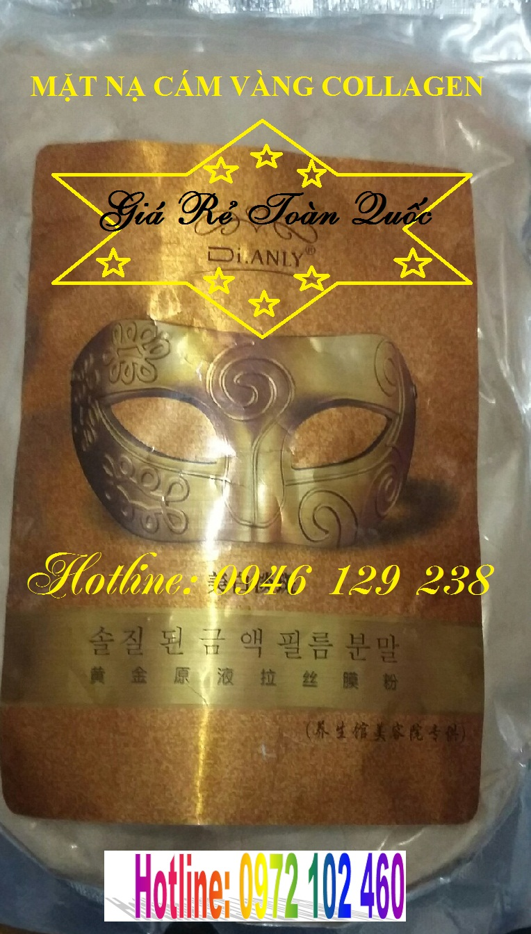 Bột mặt nạ cám vàng Collagen