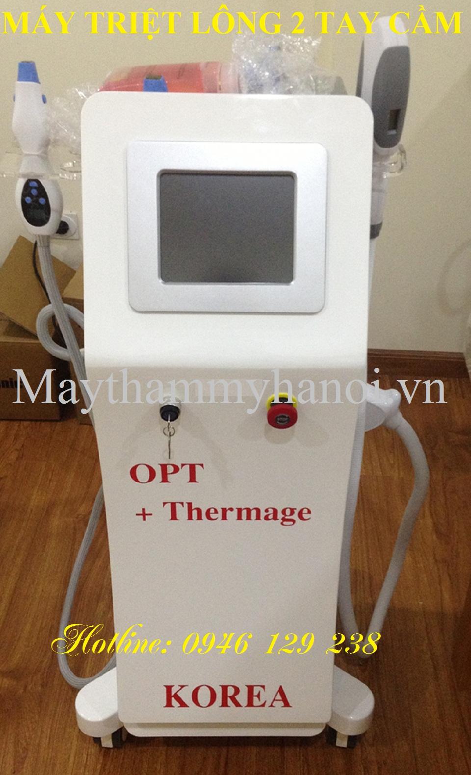 Máy triệt lông OPT 2 tay cầm trẻ hóa da